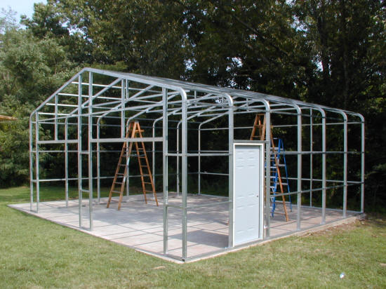 Steel Frame Garage : Versatube steel building systems products combine the
